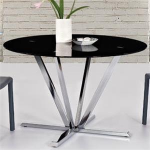 Diamond Sofa Metro Round Black Glass Dining Table