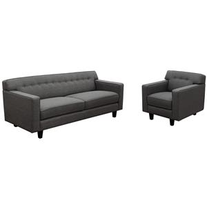 Diamond Sofa Mid-Century Mid-Century Sofa and Chair 2-Piece Set