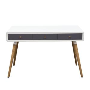 Diamond Sofa Mid-Century Two-Tone Retro 3-Drawer Desk Table
