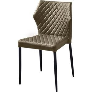 Diamond Sofa Milo Dining Chair with Tufted Leatherette