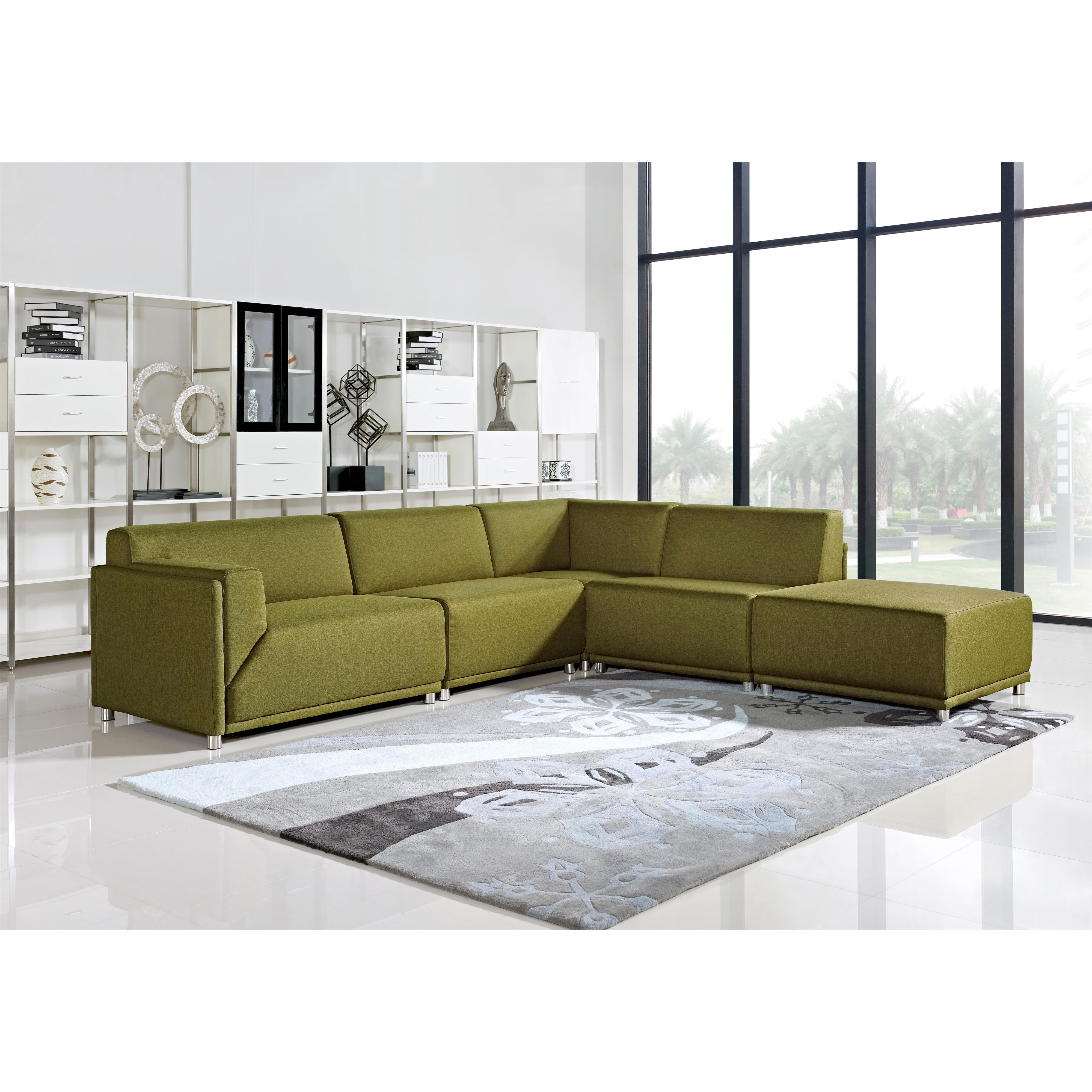 Diamond Sofa Moderna Left Facing Five Piece Sectional - Item Number: MODERNALF5PCGN