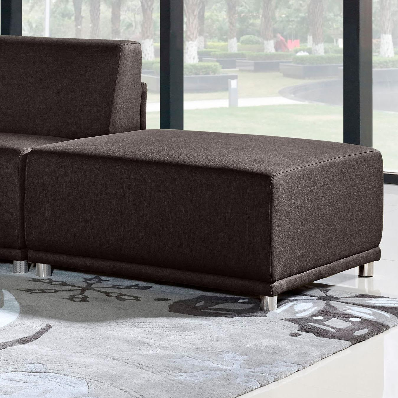 Diamond Sofa Moderna Square Ottoman - Item Number: MODERNAOTCH