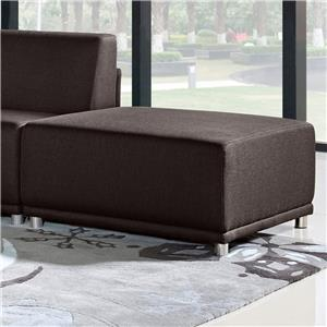 Diamond Sofa Moderna Square Ottoman