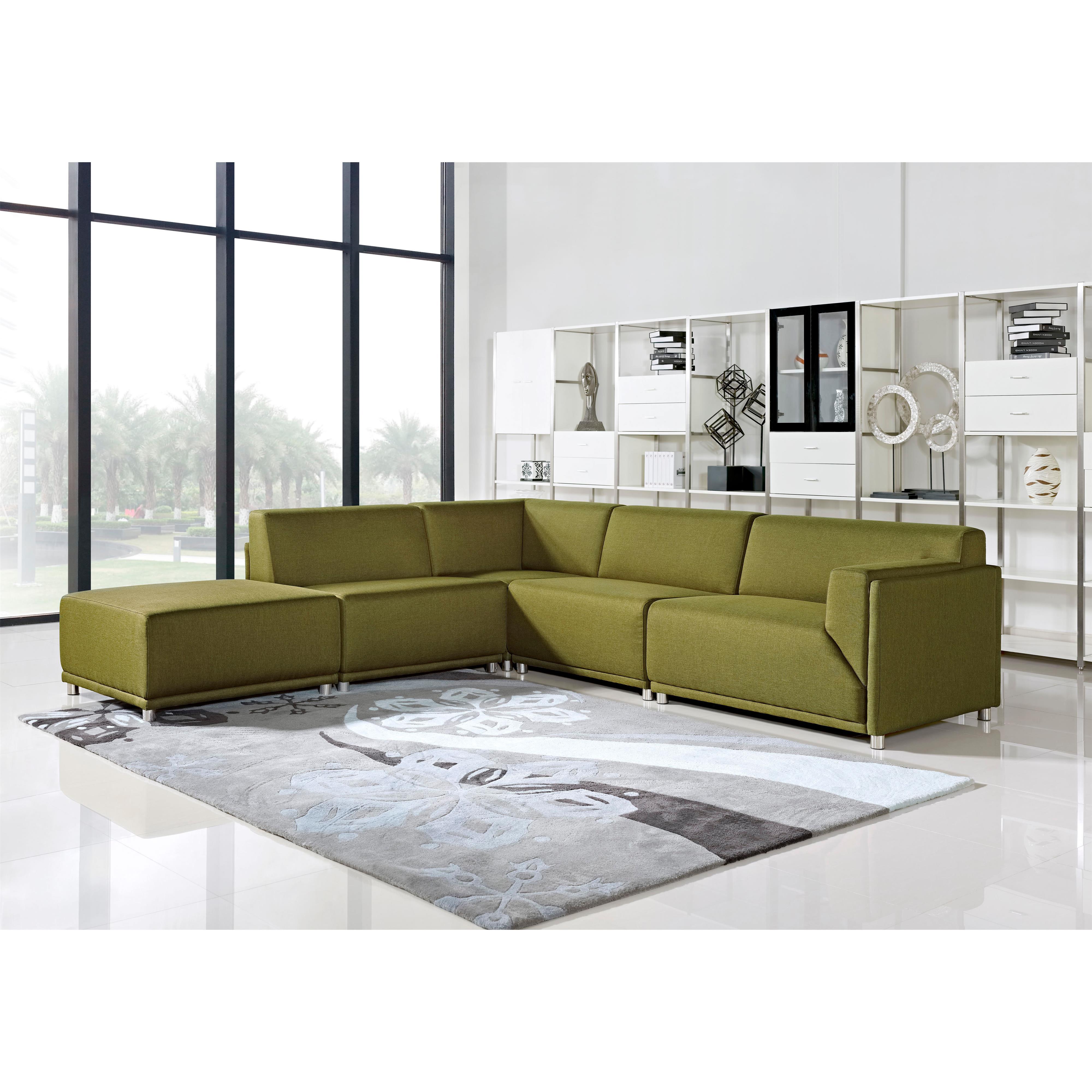 Diamond Sofa Moderna Right Facing Five Piece Modular Sofa - Item Number: MODERNARF5PCGN