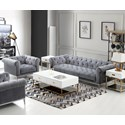 Diamond Sofa Monroe Sofa and Chair Set - Item Number: MONROESCGR