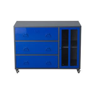 Diamond Sofa NOVA QwiK 1-Door 3-Drawer Castered Storage Cabinet