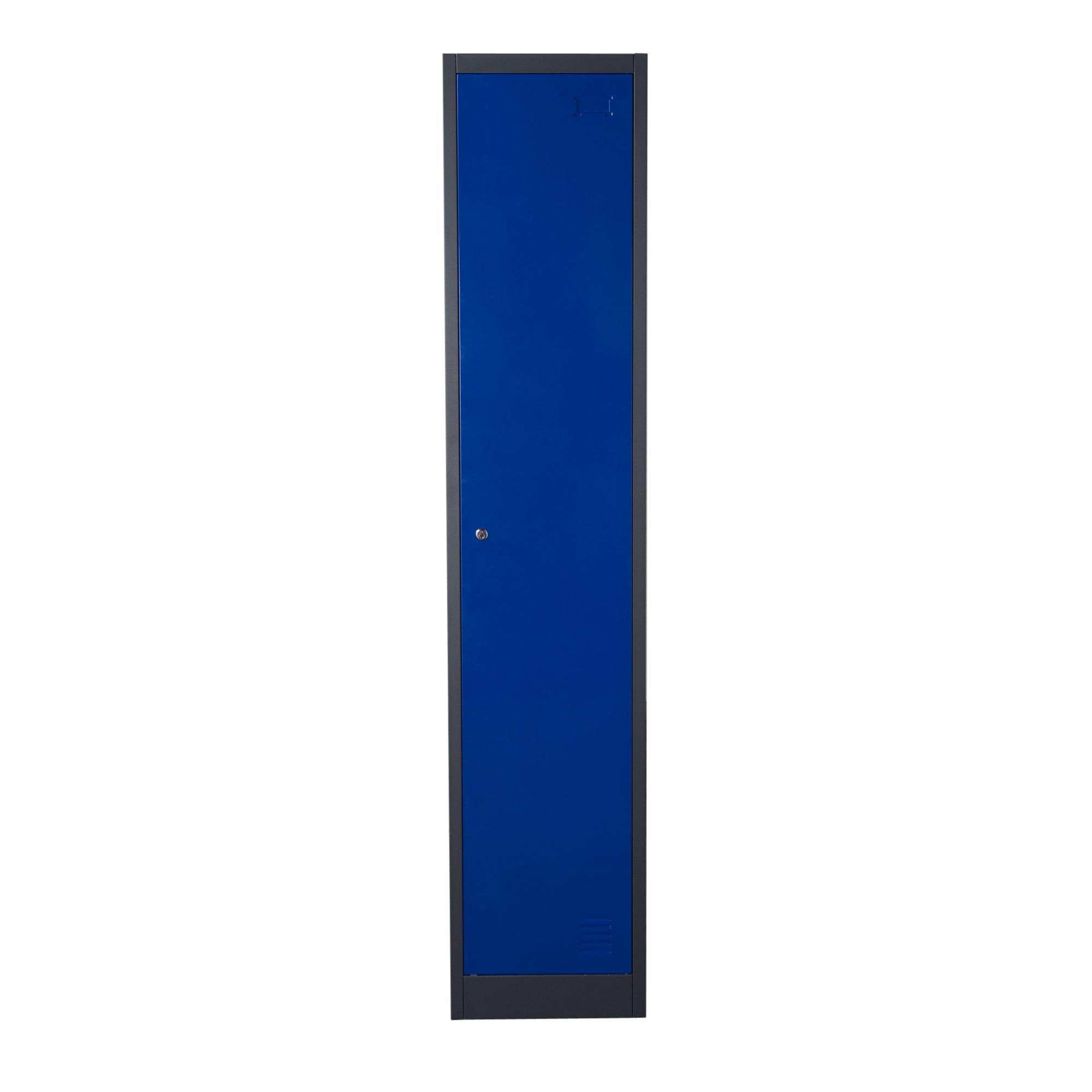 Diamond Sofa NOVA QwiK 1-Door Metal Storage Locker Cabinet - Item Number: LB1BU
