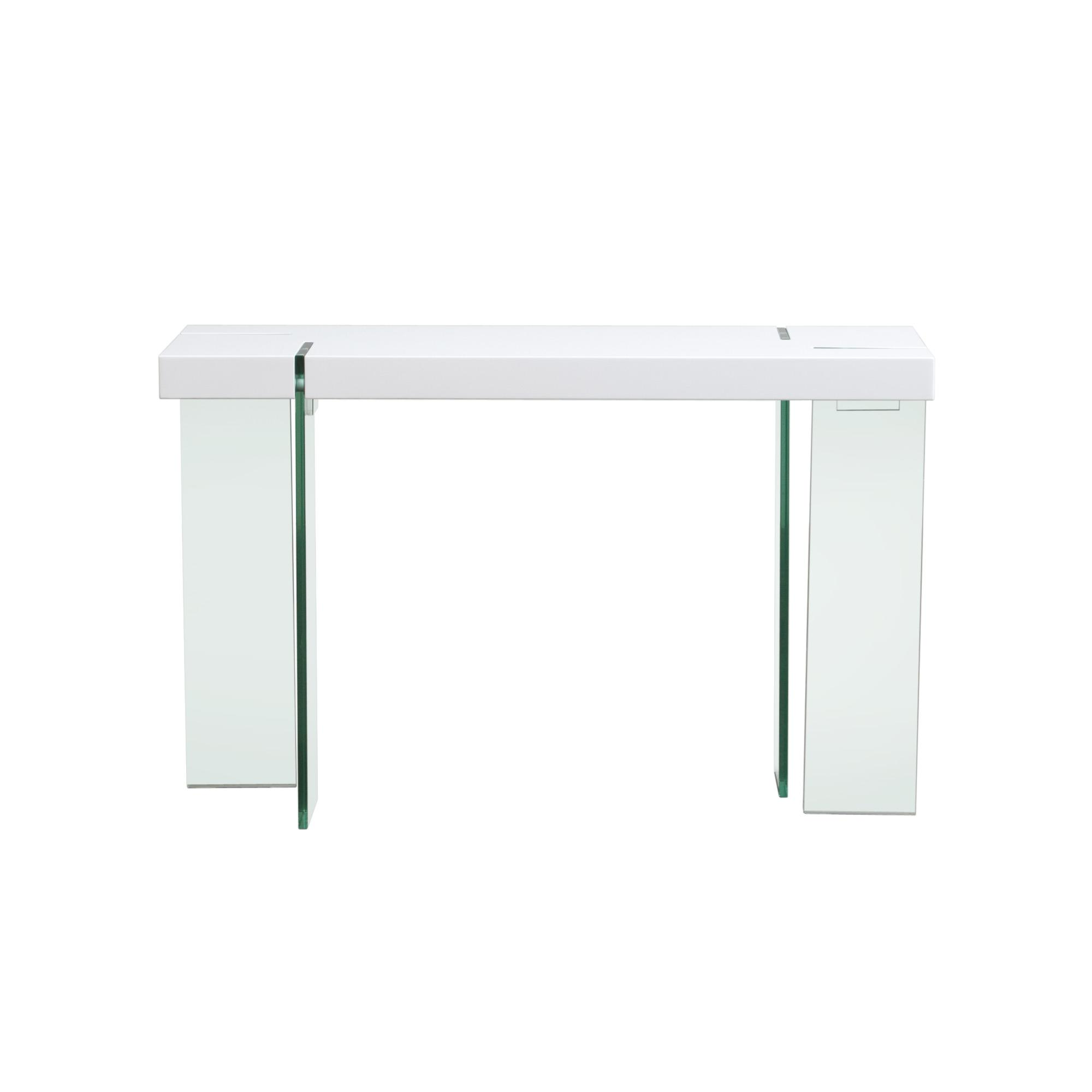 Diamond Sofa Occasional Tables & Entertainment Glass Leg Console Table - Item Number: CS776WH