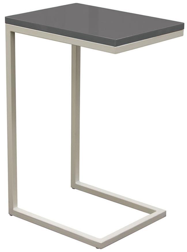 Diamond Sofa Occasional Tables & Entertainment Sleek Metal Frame Accent Table - Item Number: EDGESTGR