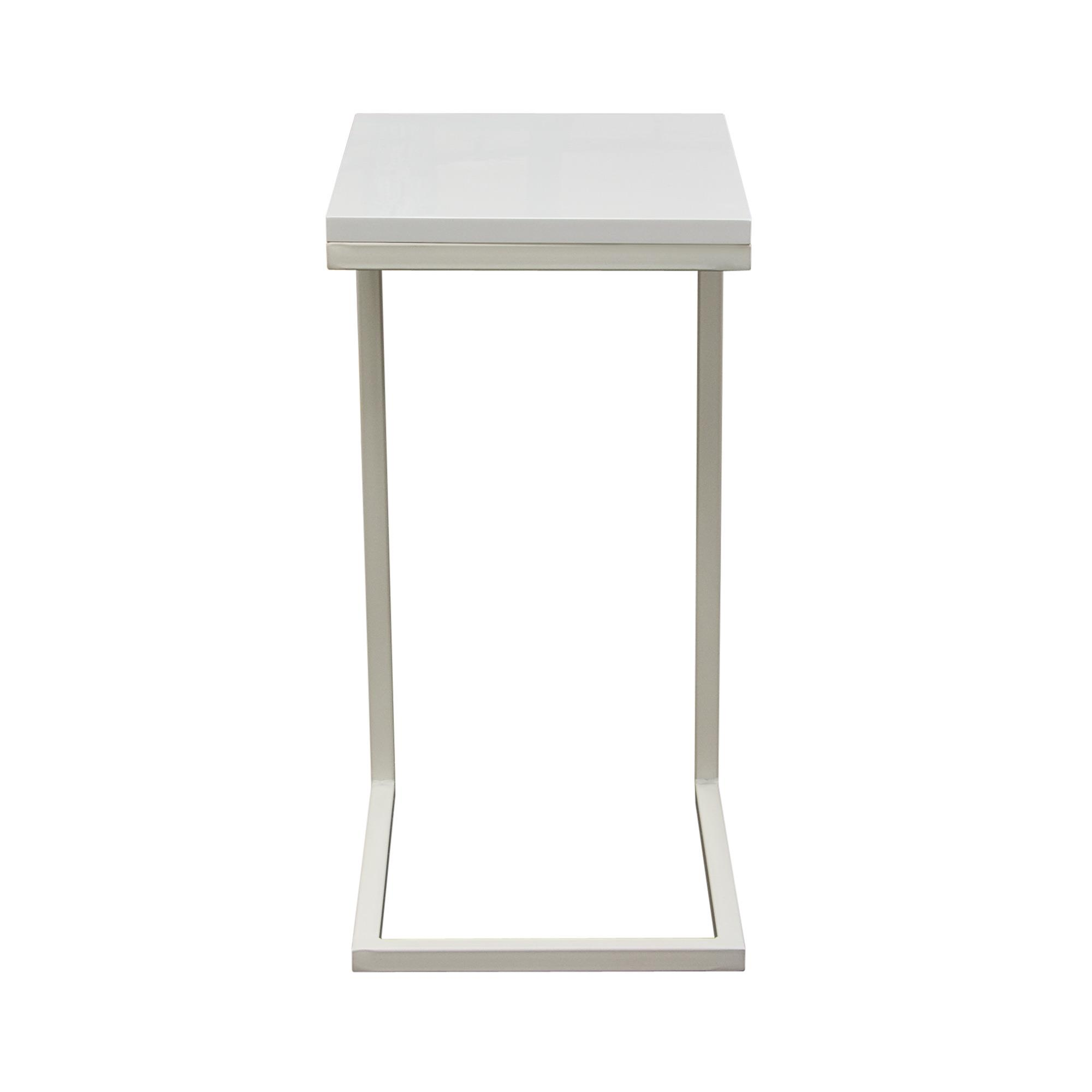 Diamond Sofa Occasional Tables & Entertainment Sleek Metal Frame Accent Table - Item Number: EDGESTWH