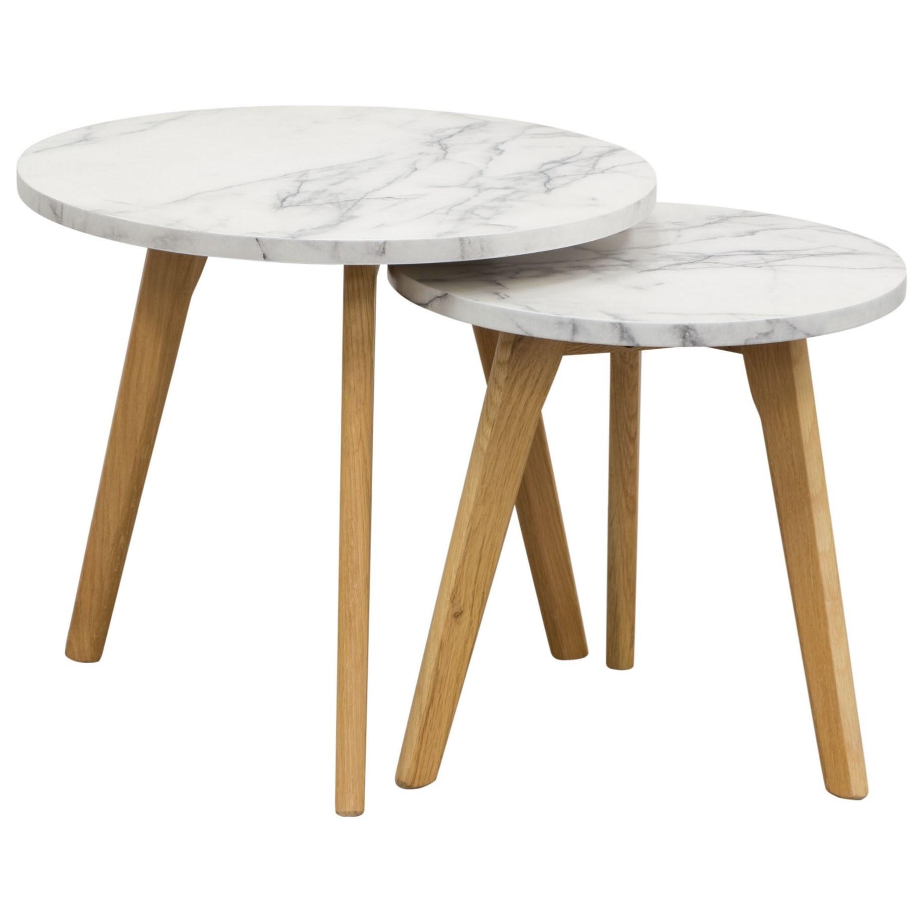 Diamond Sofa Occasional Pebble Nesting Tables - Item Number: PEBBLEETMA
