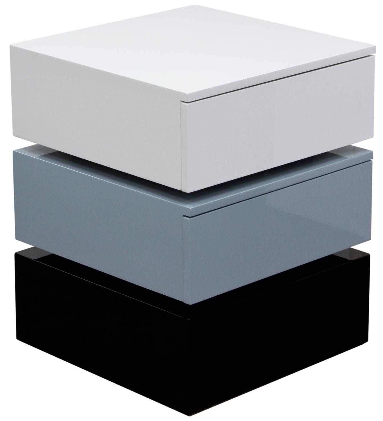 Diamond Sofa Occasional Tables & Entertainment Tri-Color Accent Table with Two Drawers - Item Number: SPARKNSGR