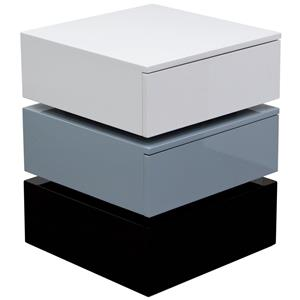 Diamond Sofa Occasional Tables & Entertainment Tri-Color Accent Table with Two Drawers