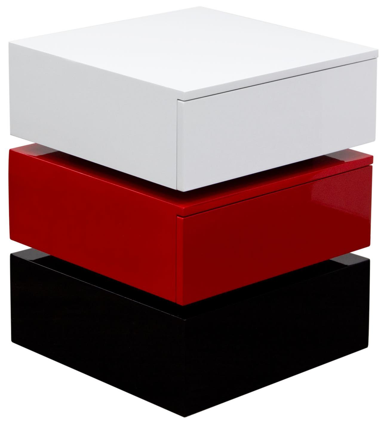 Diamond Sofa Occasional Tables & Entertainment Tri-Color Accent Table with Two Drawers - Item Number: SPARKNSRE