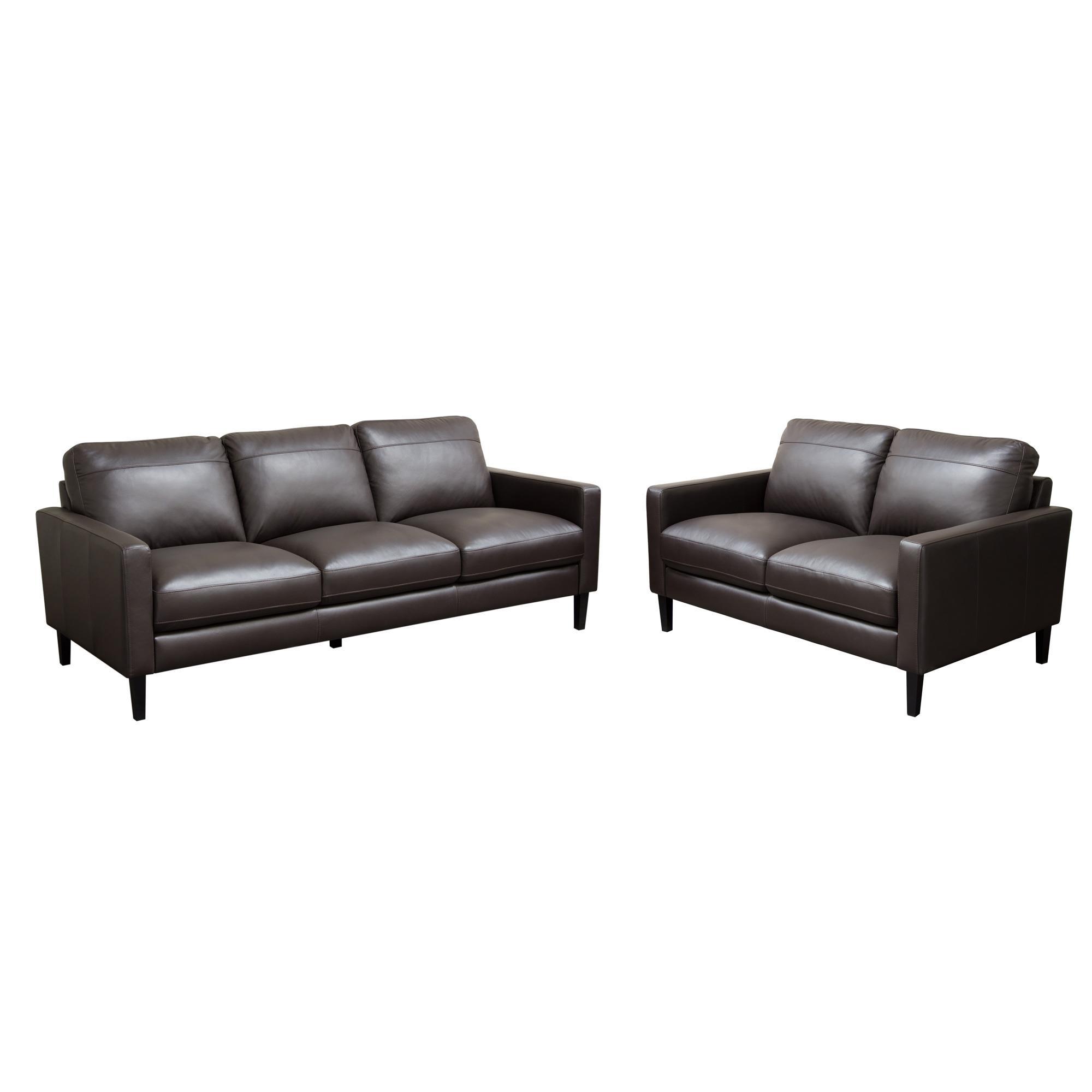 Diamond Sofa Omega Full Leather Sofa & Loveseat 2PC Set - Item Number: OMEGASLDC
