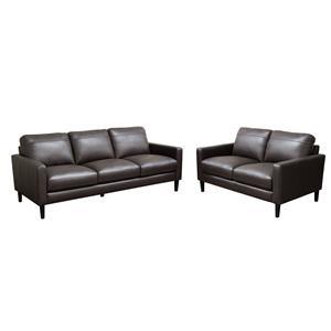 Diamond Sofa Omega Full Leather Sofa & Loveseat 2PC Set