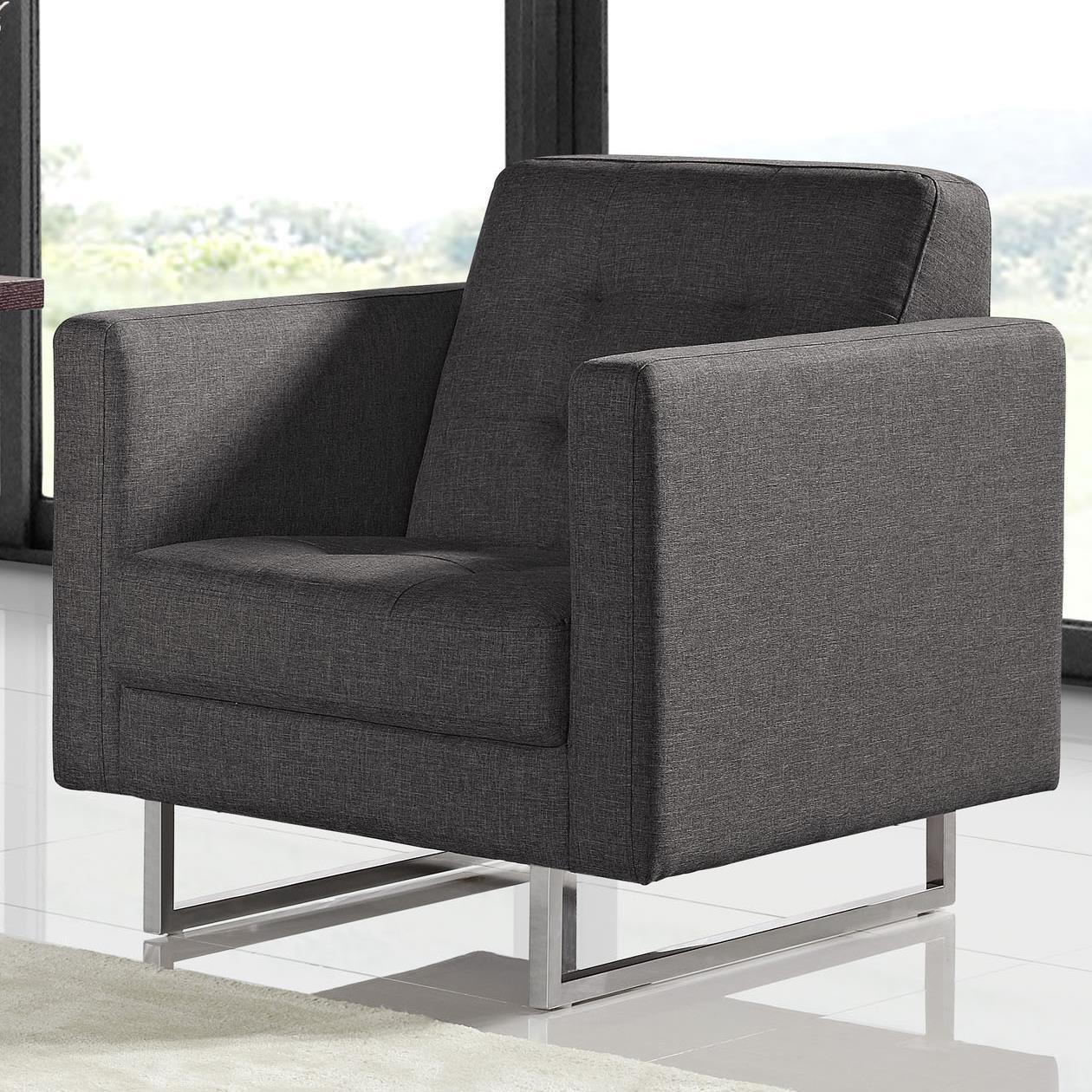 Diamond Sofa Opus Tufted Chair - Item Number: OPUSCHGR
