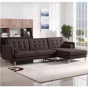 Diamond Sofa Opus Convertible Tufted RF Chaise Sectional