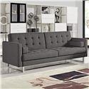 Diamond Sofa Opus Convertible Tufted Sofa - Item Number: OPUSSOGR