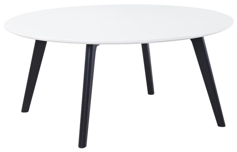 Diamond Sofa Ozone Round Cocktail Table w/ White Top - Item Number: OZONECTWH