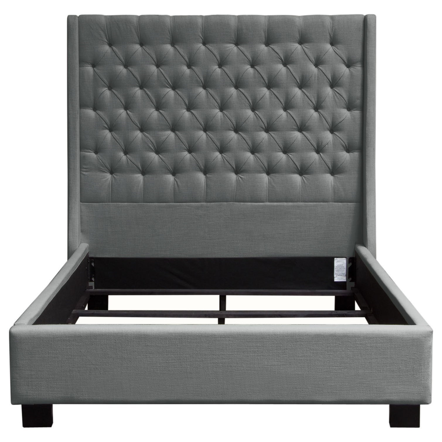 Diamond Sofa Park Ave Queen Tufted Bed with Vintage Wing - Item Number: PARKAVEGRQUBED
