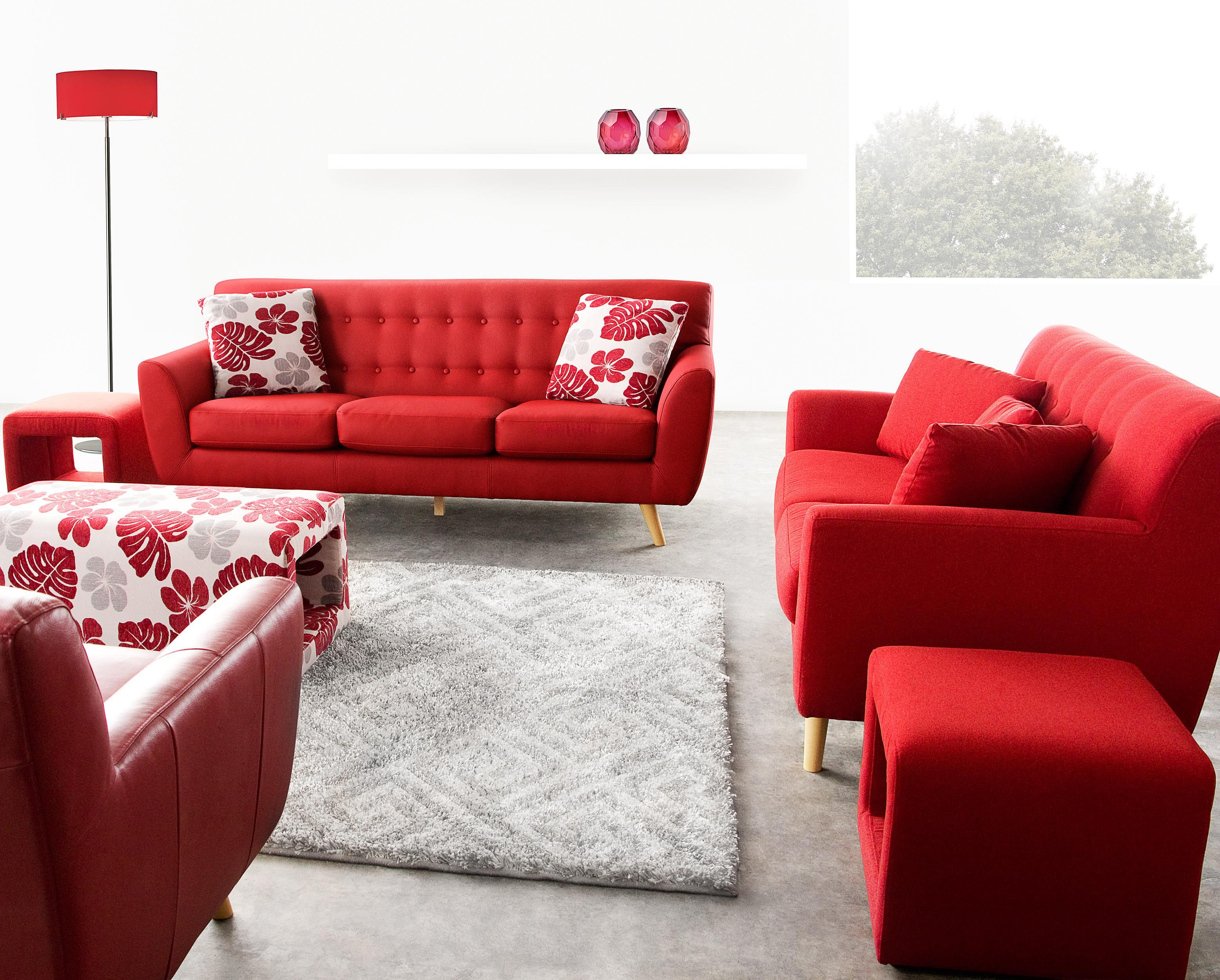 Diamond Sofa Scarlett Fabric Sofa & Loveseat 2-Piece Set - Item Number: SCARLETTSLRE