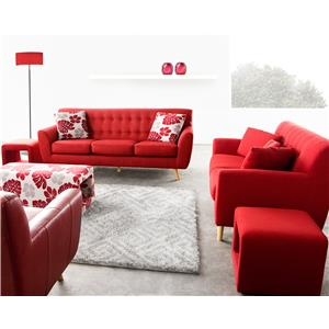 Diamond Sofa Scarlett Fabric Sofa & Loveseat 2-Piece Set