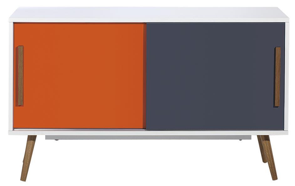 Diamond Sofa Tangent Tri-Color Storage Cabinet with Oak Legs - Item Number: TANGENTCBWH