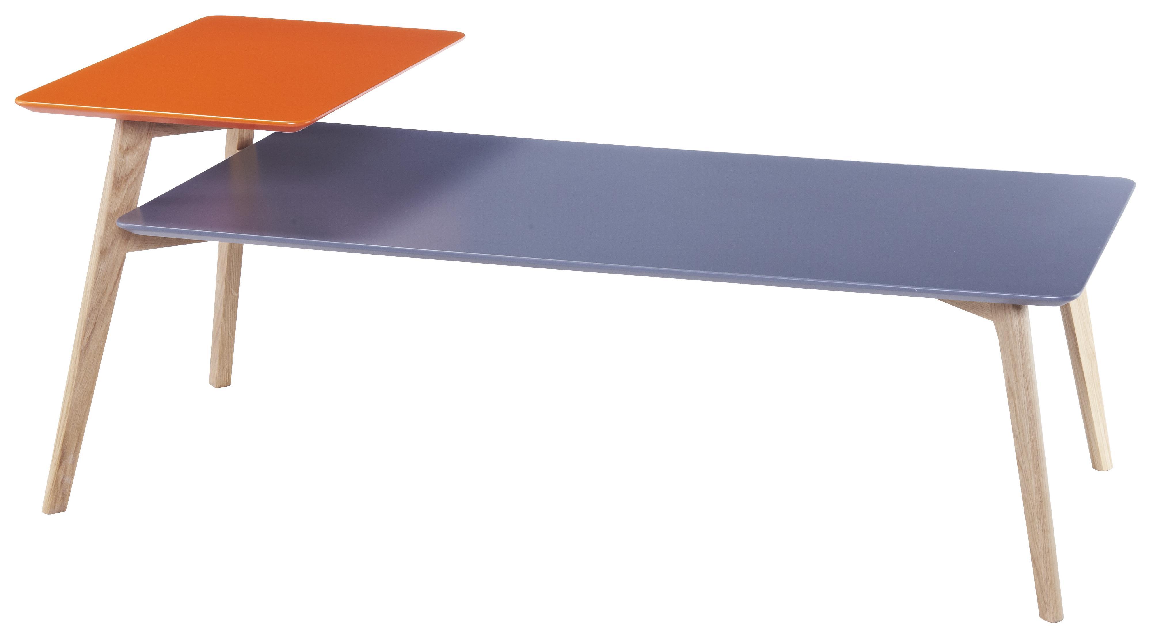 Diamond Sofa Tangent Rectangular Cocktail Table w/ Oak Legs - Item Number: TANGENTCTGR