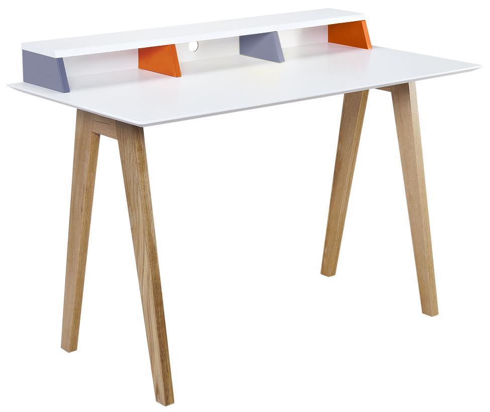 Diamond Sofa Tangent Tri-Color Desk Station with Oak Legs - Item Number: TANGENTDEWH