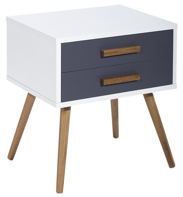 Diamond Sofa Tangent 2-Drawer Accent Table w/ Oak Legs - Item Number: TANGENTETWHGR