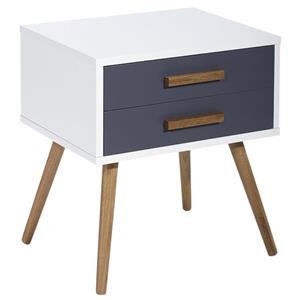 Diamond Sofa Tangent 2-Drawer Accent Table w/ Oak Legs