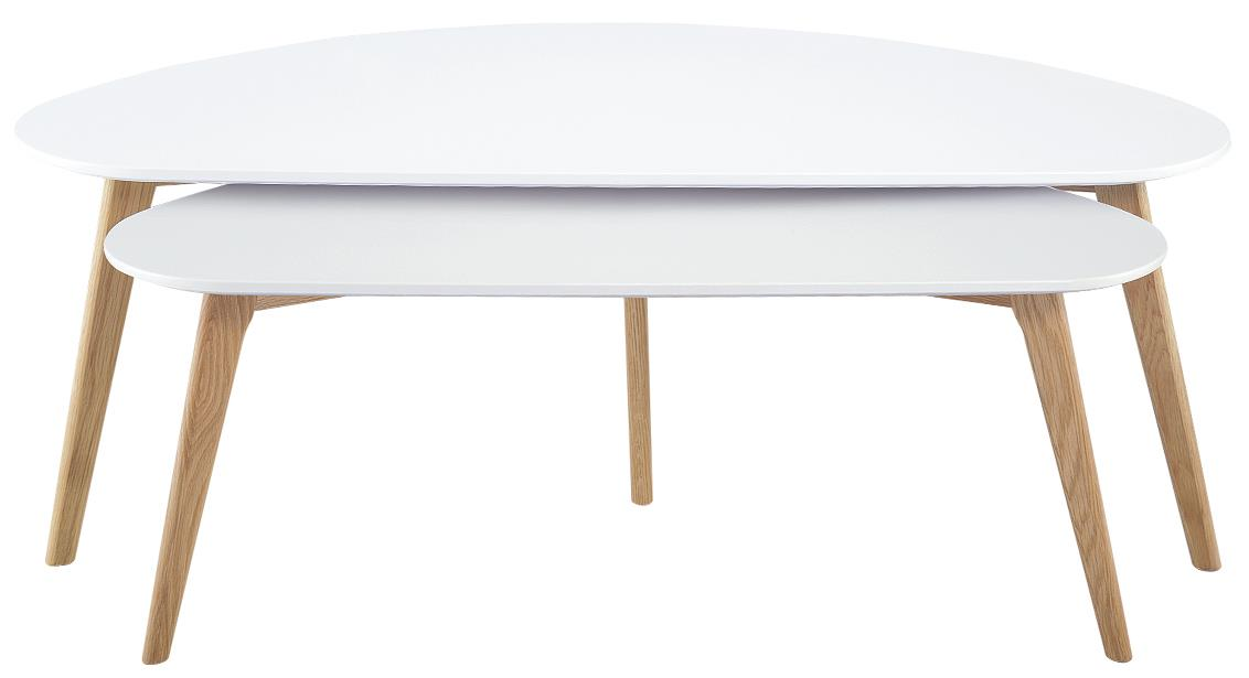 Diamond Sofa Terra 2PC Nesting Cocktail Table Set w/ White Tops - Item Number: TERRACTWH