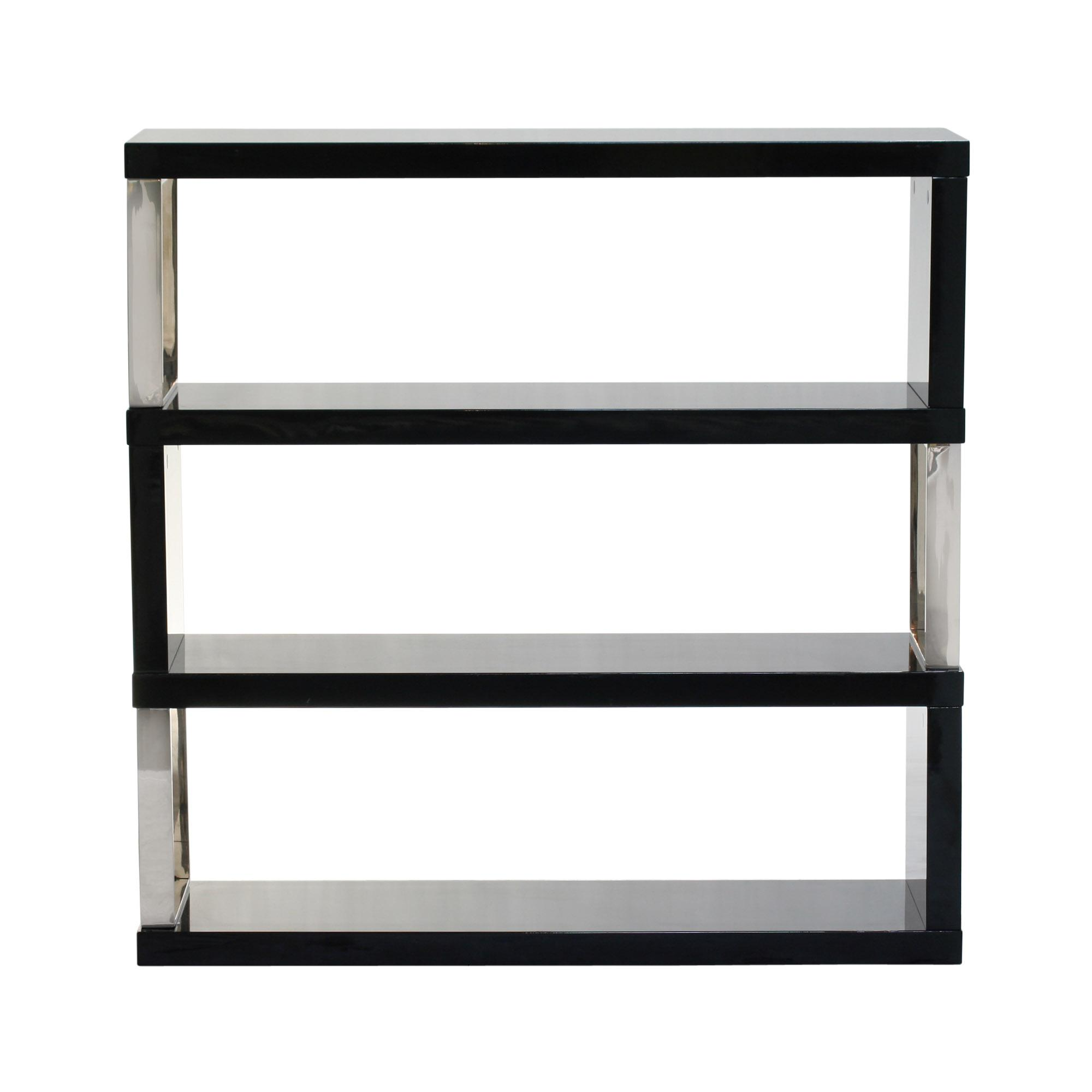 Diamond Sofa Home Accents Low Profile Shelf Unit - Item Number: 11032SH01BL