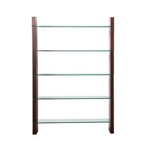 Diamond Sofa Home Accents Glass Bookcase and Room Divider