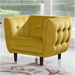Diamond Sofa Venice Button Tuft Fabric Chair