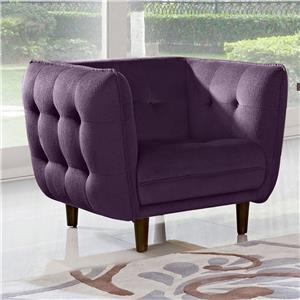 Diamond Sofa Venice Button Tuft Fabric Chair