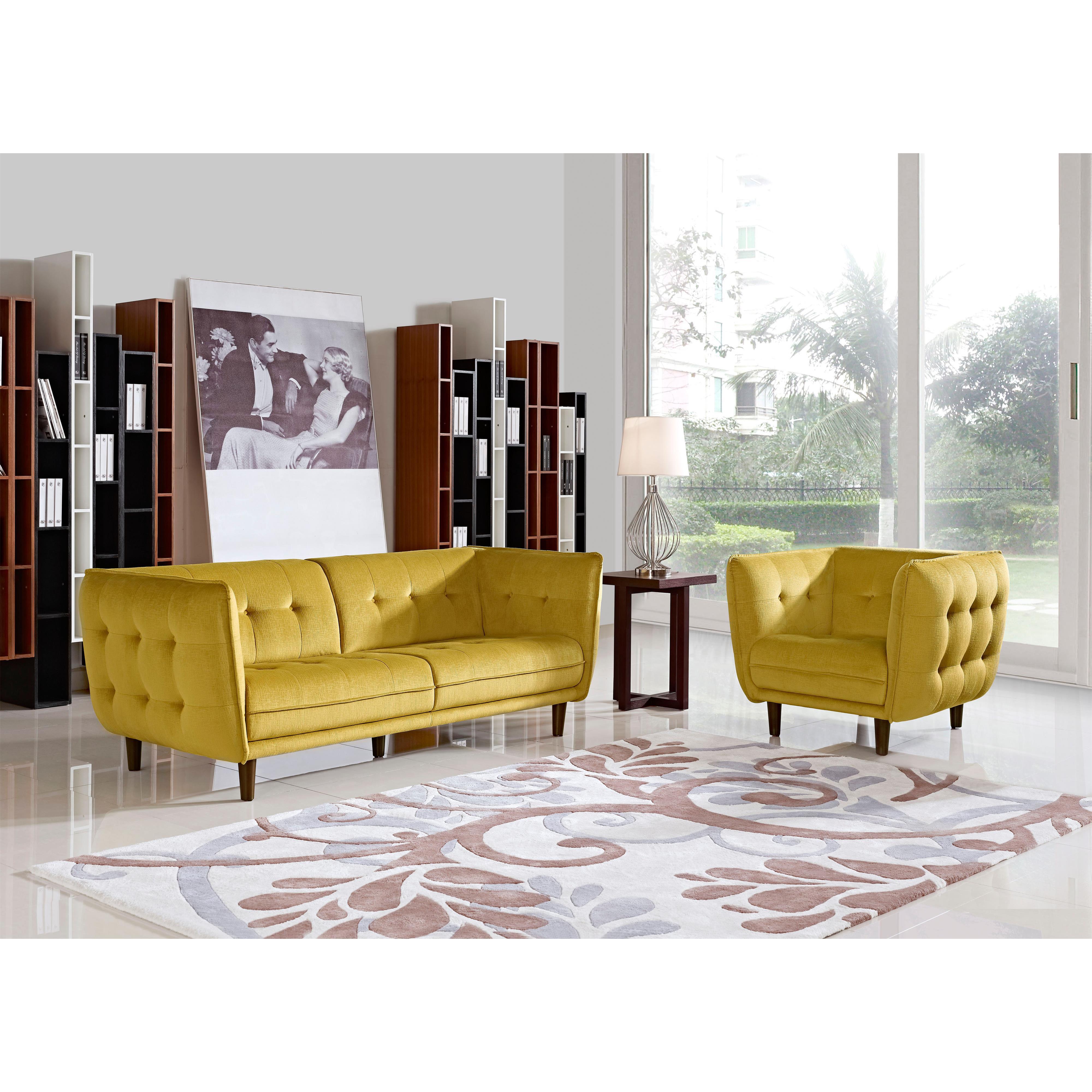 Diamond Sofa Venice Fabric Sofa & Chair 2-Piece Set - Item Number: VENICESCGD