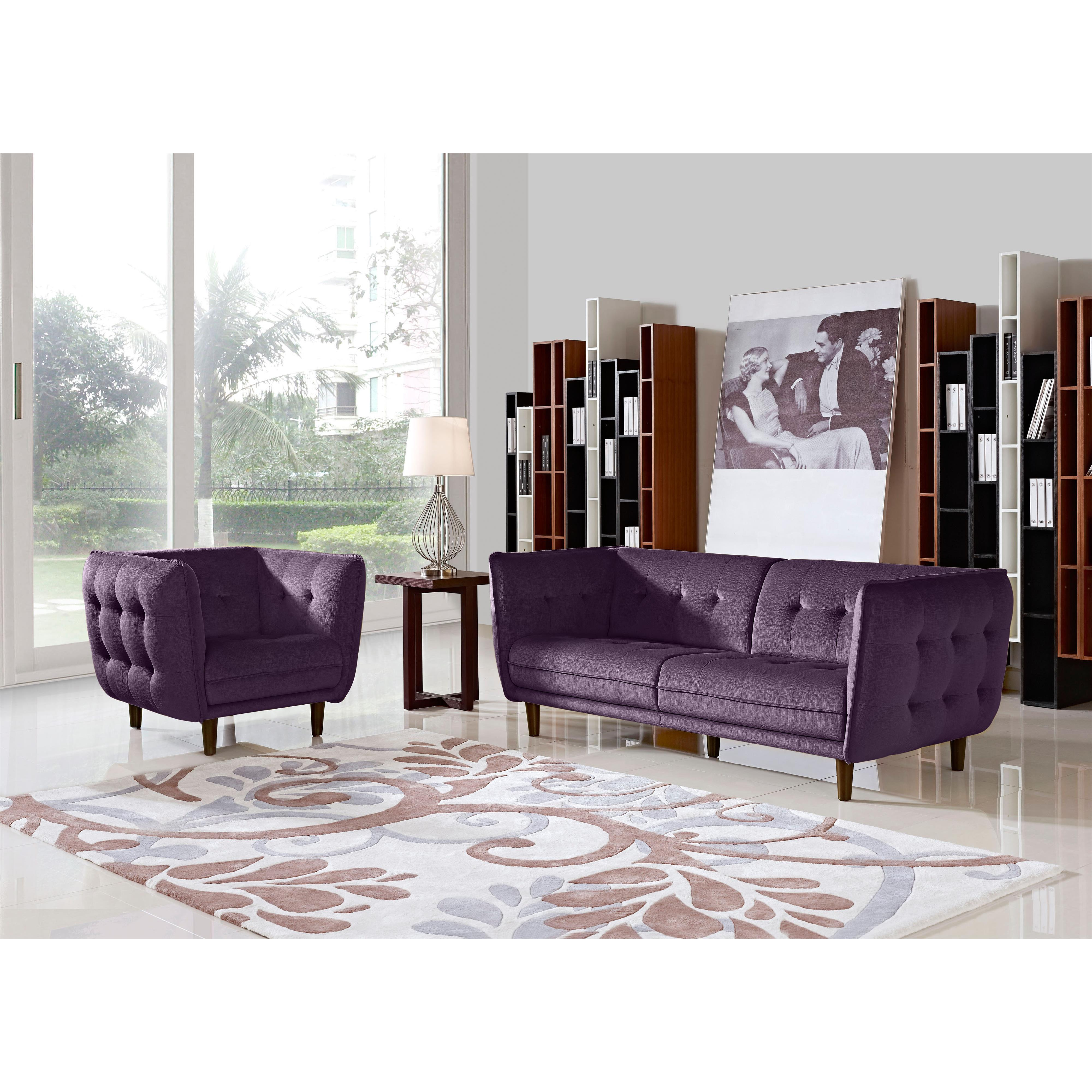 Diamond Sofa Venice Fabric Sofa & Chair 2-Piece Set - Item Number: VENICESCPR
