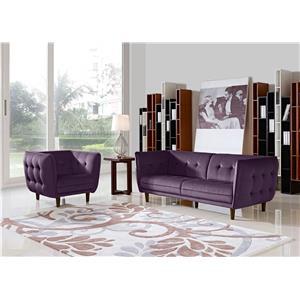 Diamond Sofa Venice Fabric Sofa & Chair 2-Piece Set