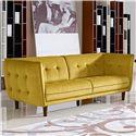 Diamond Sofa Venice Button Tuft Fabric Sofa - Item Number: VENICESOGD