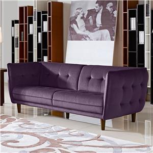 Diamond Sofa Venice Button Tuft Fabric Sofa