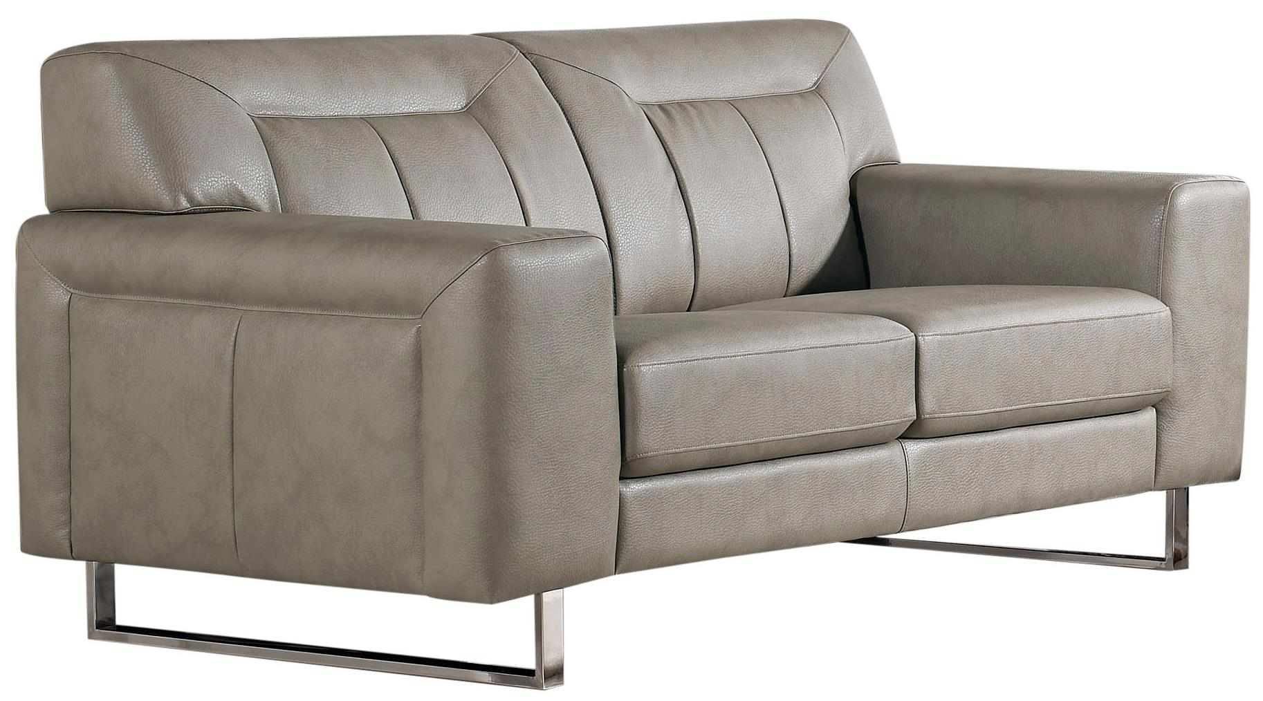 Diamond Sofa Vera Leatherette Loveseat with Chrome Metal Leg - Item Number: VERALOSS