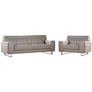 Diamond Sofa Vera Leatherette Sofa/Chair 2PC Set