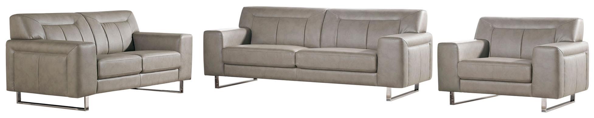 Diamond Sofa Vera Leatherette Sofa/Loveseat/Chair 3PC Set - Item Number: VERASLCSS