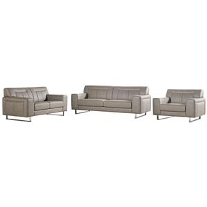 Diamond Sofa Vera Leatherette Sofa/Loveseat/Chair 3PC Set