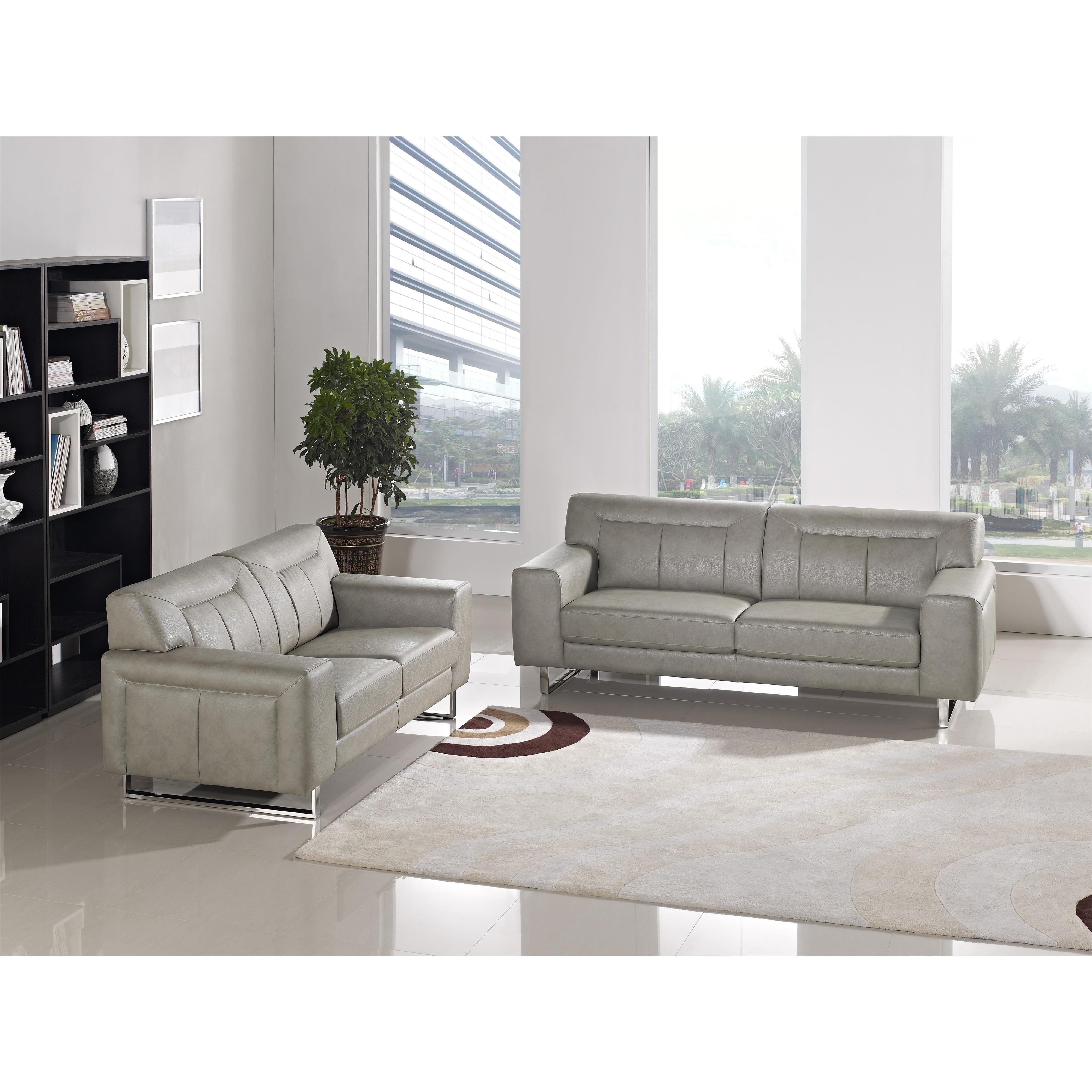 Diamond Sofa Vera VERASLSS Leatherette Sofa/Loveseat 2PC Set with ...