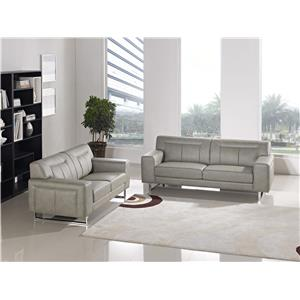 Diamond Sofa Vera Leatherette Sofa/Loveseat 2PC Set