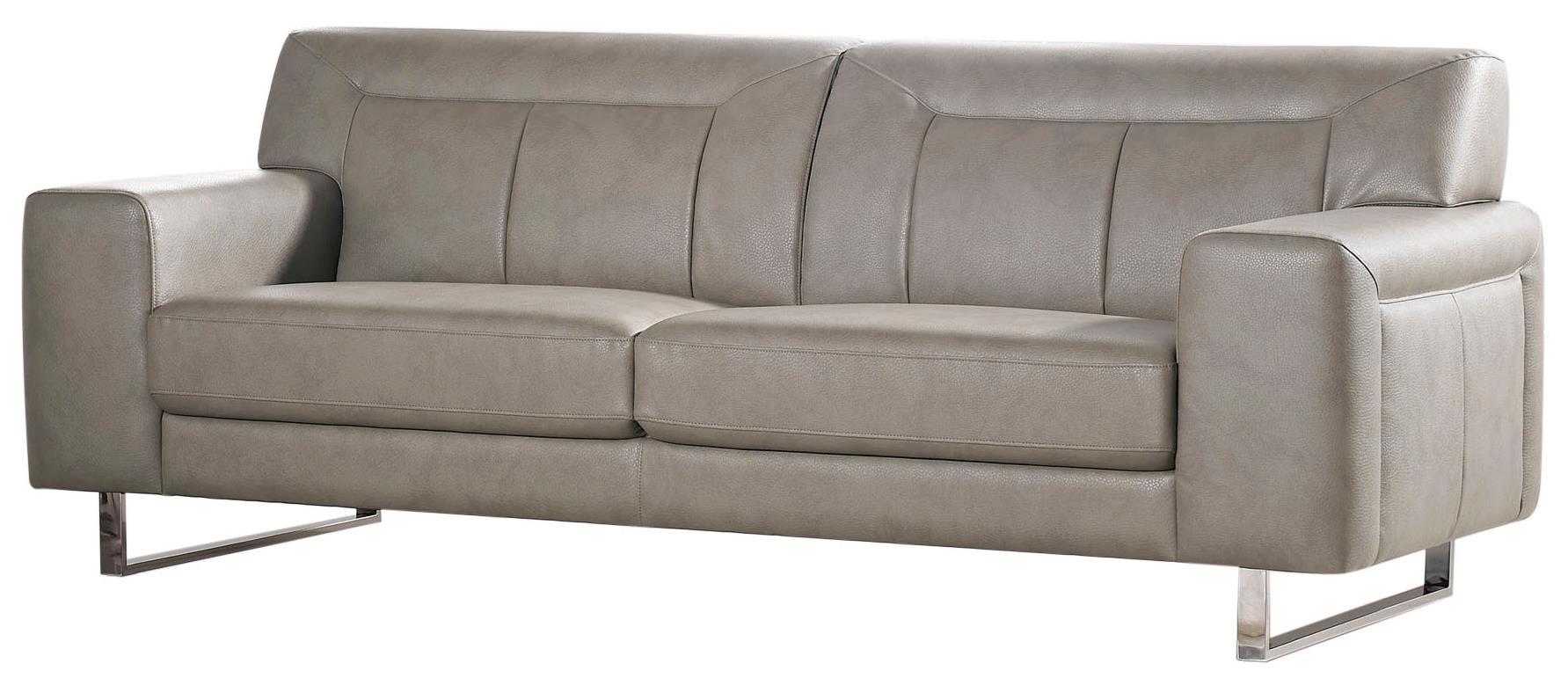 Diamond Sofa Vera Leatherette Sofa with Chrome Metal Base - Item Number: VERASOSS