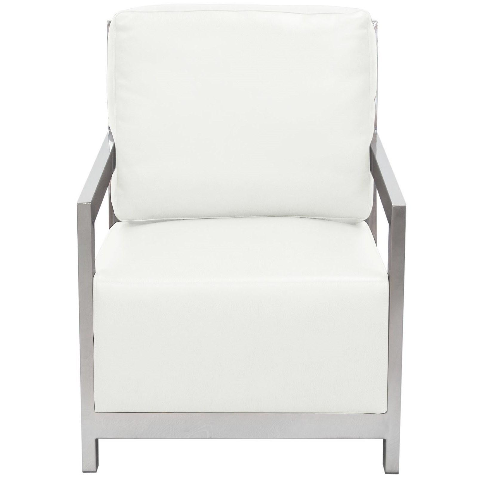 Merveilleux Diamond Sofa Zen Accent Chair   Item Number: ZENCHWH